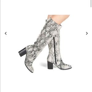 Snake Skin Tall Boots Size 6